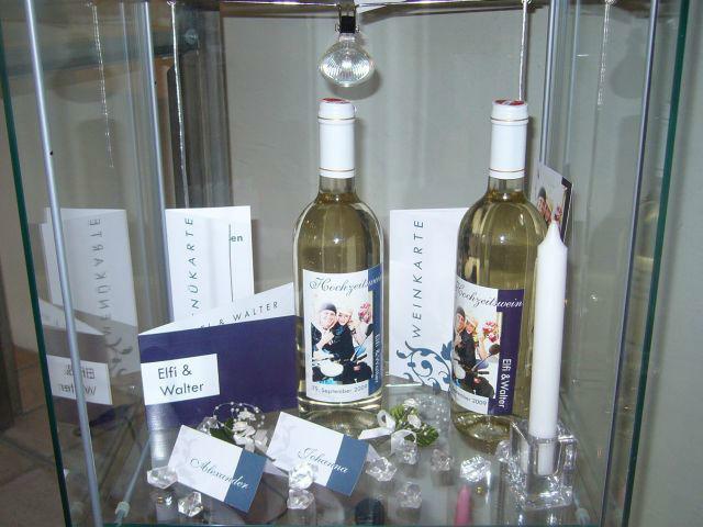 Beispiel: Ihr persönlicher Hochzeitswein, Foto: Hochzeitswein - Weingut Zickl.