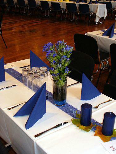 Beispiel: Tischdekoration, Foto: die kornblume.