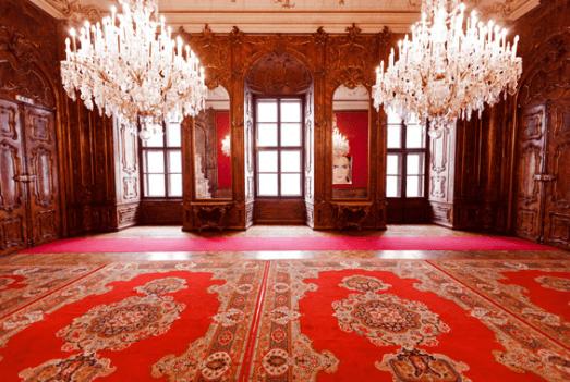 Beispiel: Roter Saal, Foto: Moya Vienna.