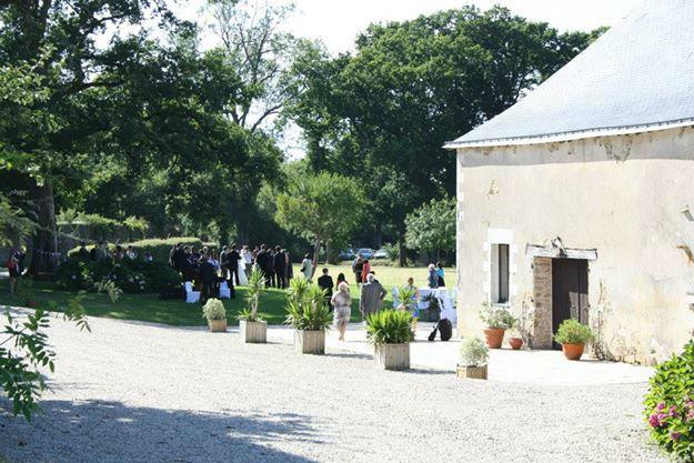 Château de la Rousselière - la terrasse