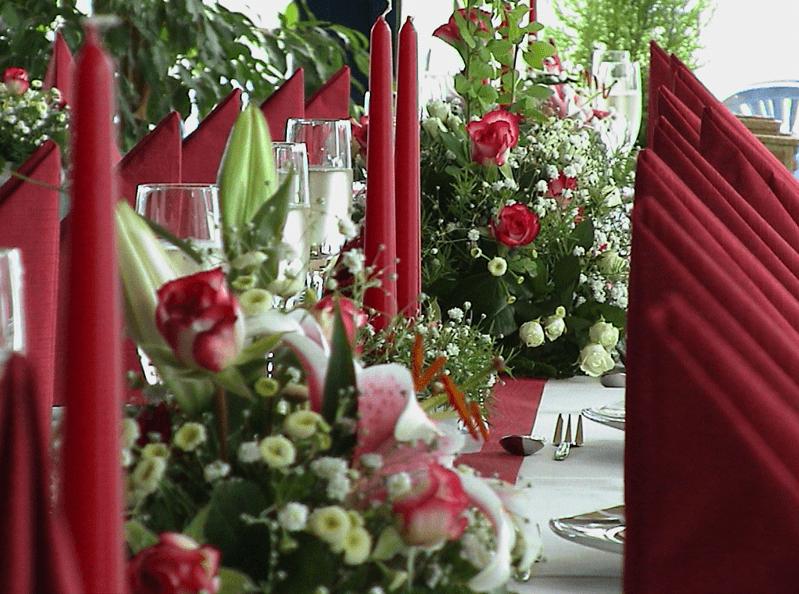 Beispiel: Tischdekoration, Foto: Seeblick Magdeburg.