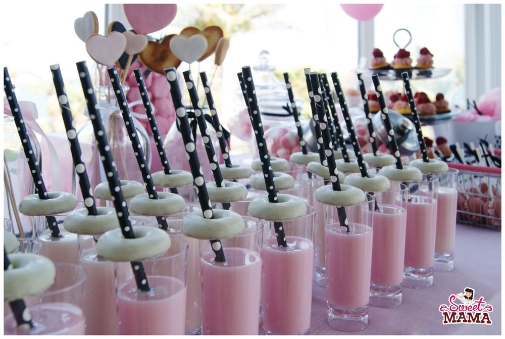 Detalles mesa dulce Pink &  Black