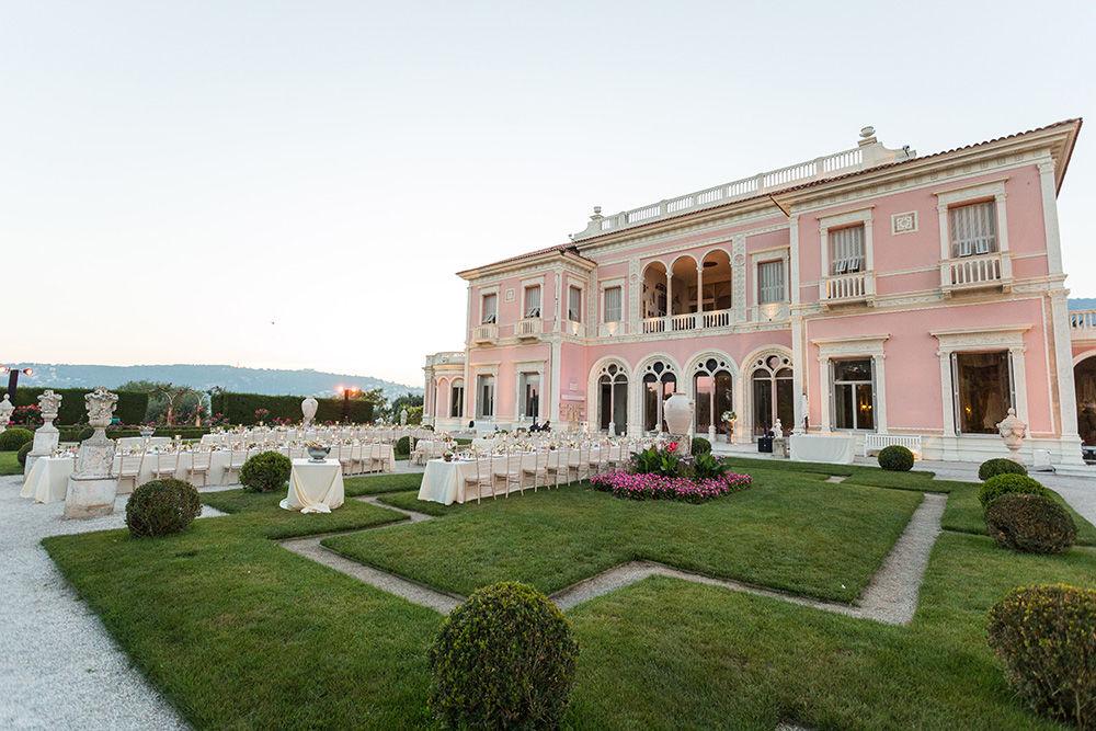 Organisation mariage sur la Côte d'Azur pour Sharveen & Martin à la Villa Ephrussi de Rothschild - Lieu de réception