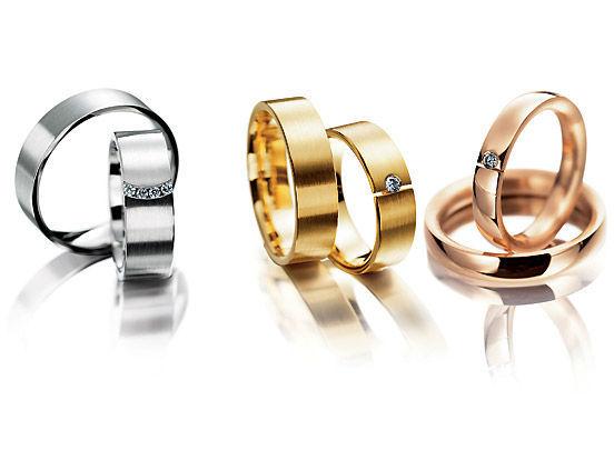 Beispiel: Finden Sie die Eheringe die zu Ihnen passen, Foto: Juwelier Neuwirth.