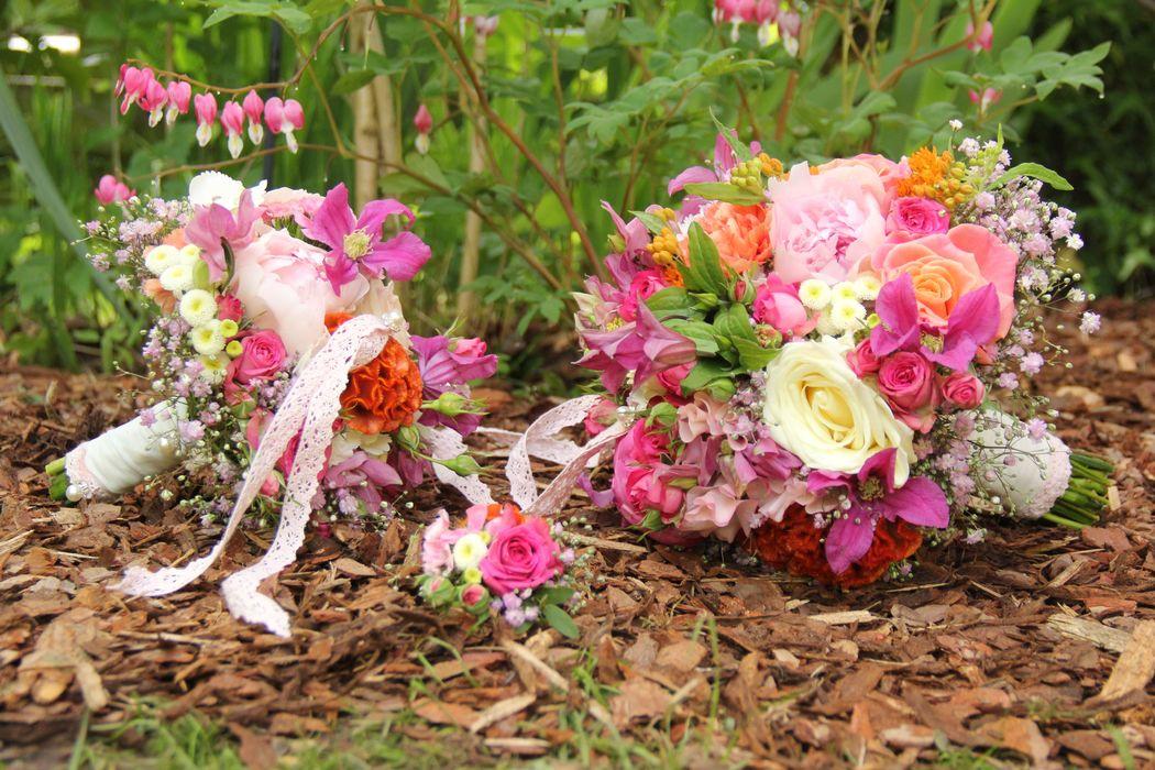 Ein Farbenfeuerwerk in pink und orange...so schön, dass meine Bräute mir das alles ermöglichen...❤