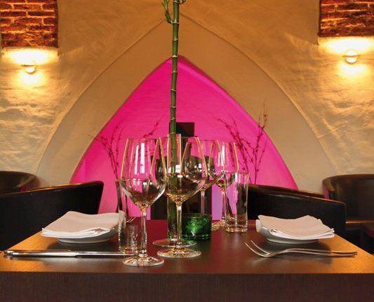 Beispiel: Tischdekoration, Foto: J-Restaurant Schloss Ringenberg.