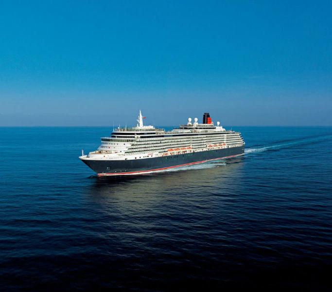 Beispiel: Kreuzfahrtschiff, Foto: Cunard Line.