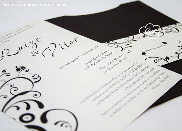 convite de casamento modelo 13