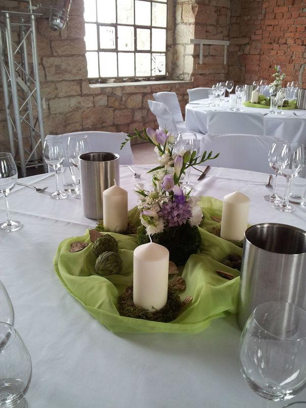 Beispiel: Tischdekoration, Foto: Blumenfee Katrin CC.