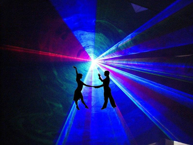 Beispiel: Lasershow, Foto: Katharinas Liveband.