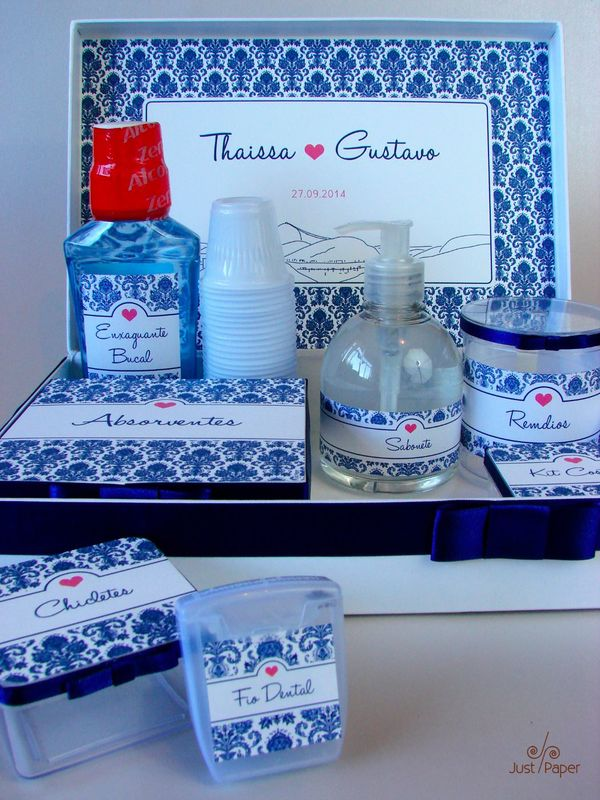 Kit Toilette Feminino Azul