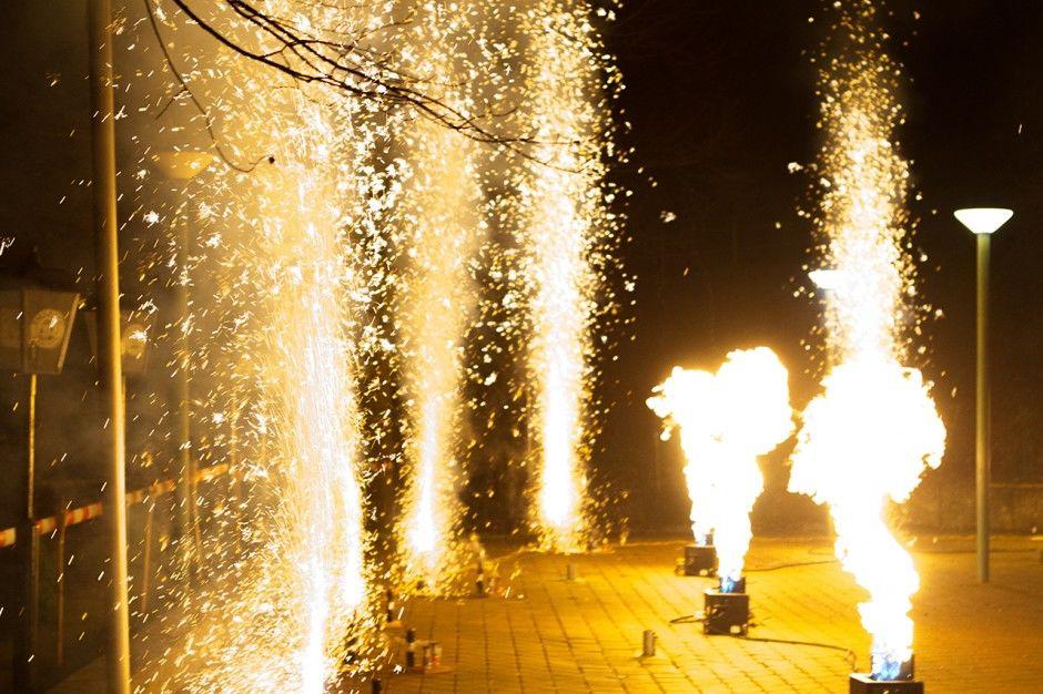 Beispiel: Feuerwerk, Foto: Wirtshaus am Rosengarten.