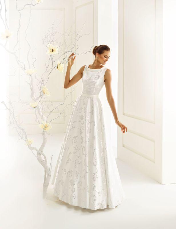 Brautkleid aus Jacquard Stoff | Bianco Evento