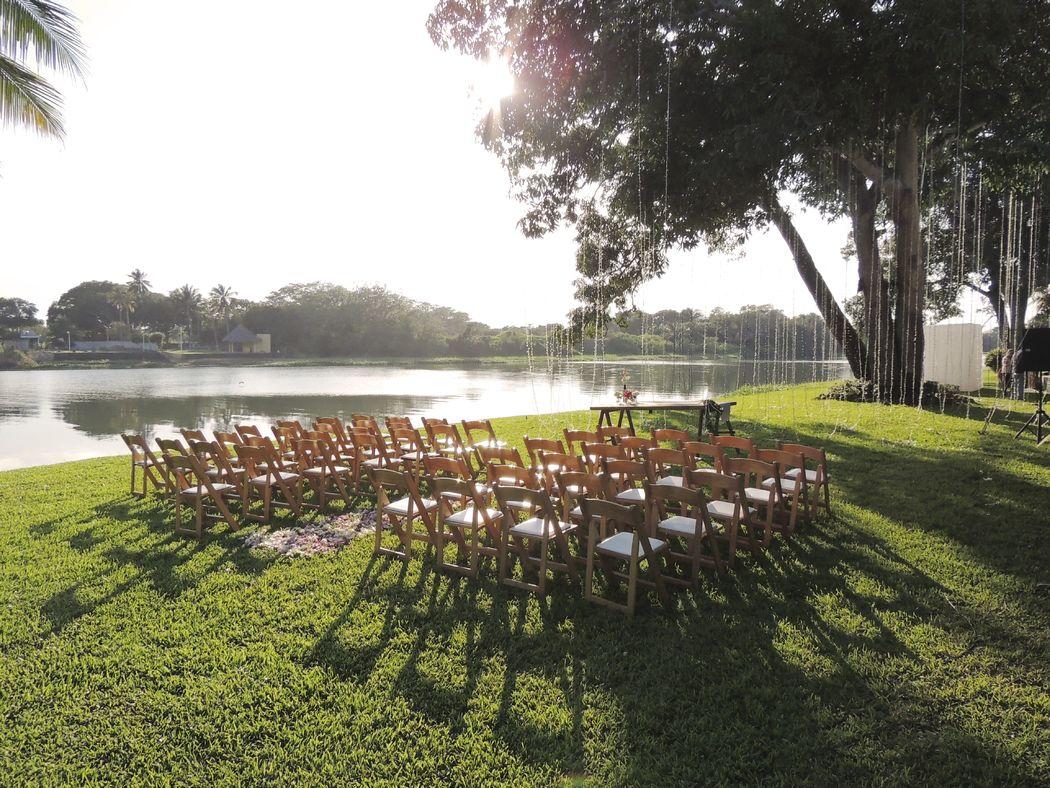 Boda civil jardín Shangri-Lá.