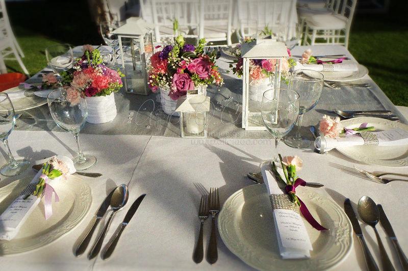 Centros de mesa y decoración de servilletas