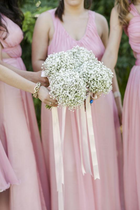 Bouquets de gipsofila para Damas de Honra