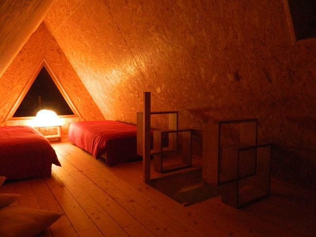 chambre 3 personnes dans un lodge