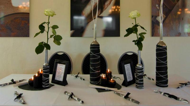 Beispiel: Tischgedeck Hochzeit, Foto: Hofgut Bergerhof.