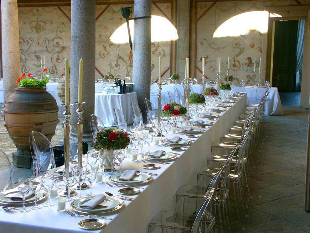 Corte Nobile con tavolo imperiale - Villa Gaia Gandini