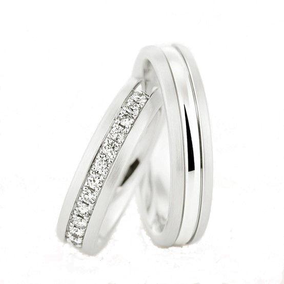 AM38 Aros de matrimonio con diamantes