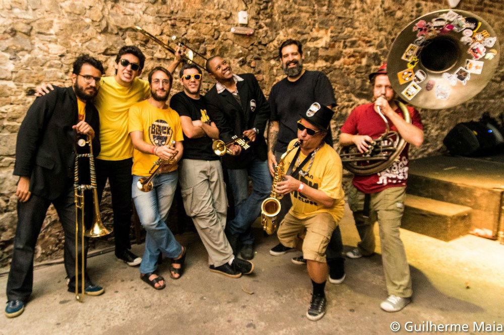 Fanfarra Black Clube Foto: Guilherme Maia