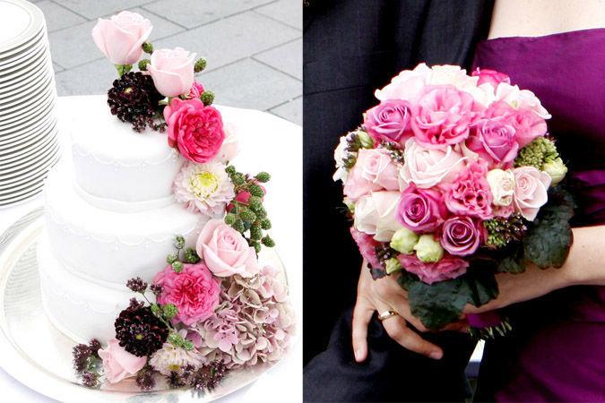 Beispiel: Florale Dekoration für Ihre Hochzeit, Foto: Marsano Blumen.