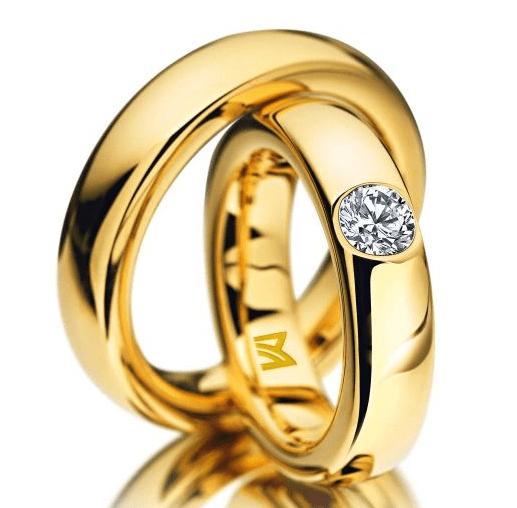 Beispiel: Trauringe in Gelbgold aus der Classic Kollektion von Meister, Foto: Juwelier Kopf.