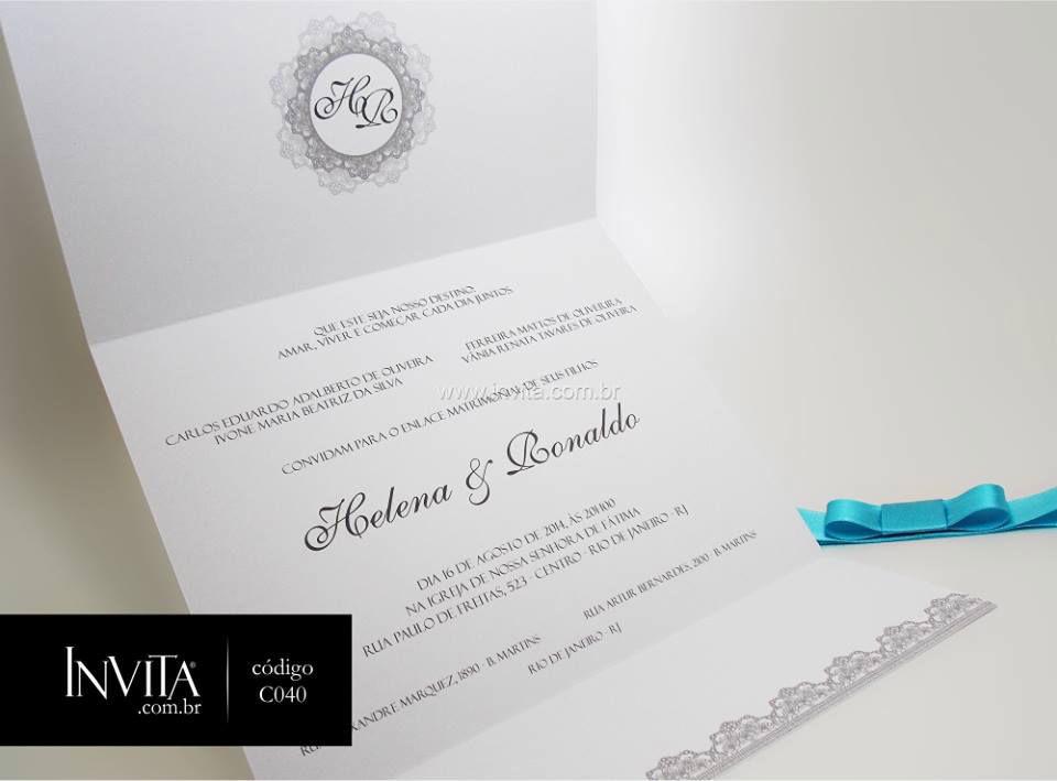 Convites de Casamento - Cód.: C040