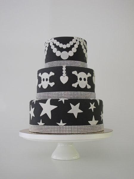 Beispiel: Hochzeitstorte Kollektion White Star, Foto: Madame Miammiam.