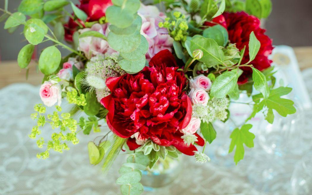 ambiance. Centre de table.  Création florale Les Fées Nature