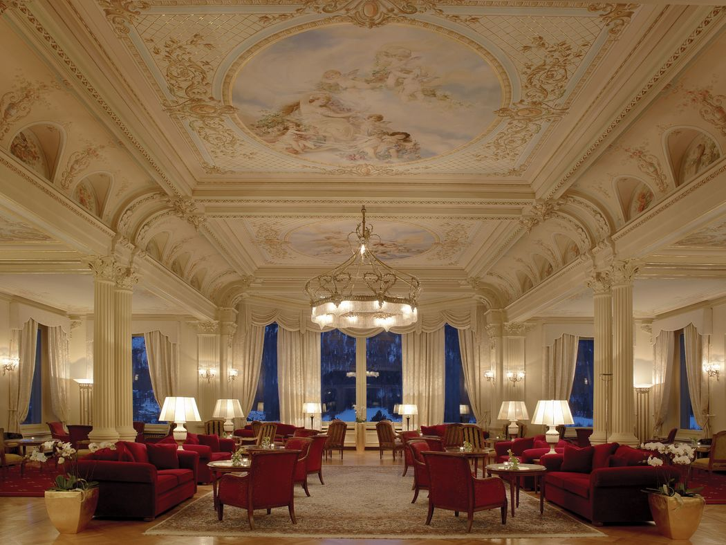 Lobby of the Grand Hotel Kronenhof