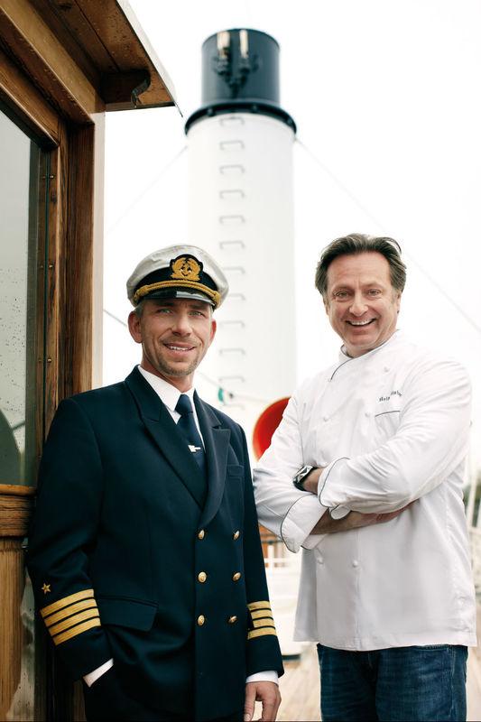 Beispiel: Kapitän Adolf Konstatzky und Huber,Foto: Hohentwiel Schifffahrtsgesellschaft.
