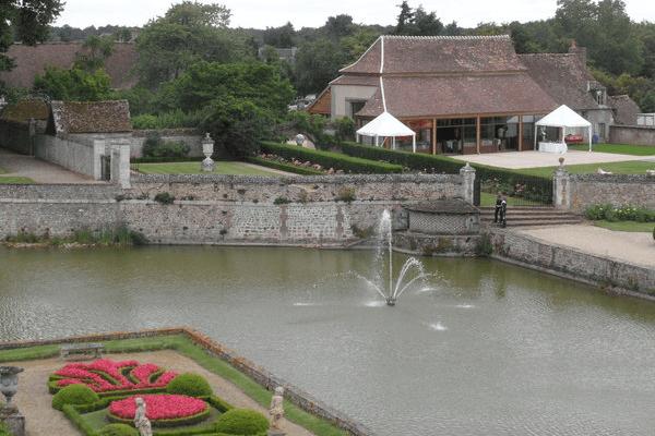 Vue aérienne de l'Orangerie du Château de Beaumesnil