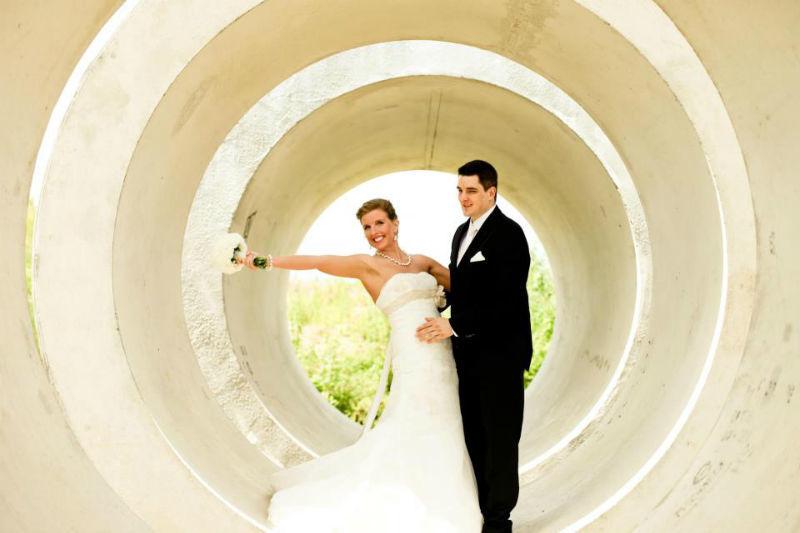 Beispiel: Portrait-Fotos vom Brautpaar, Foto: Almut Buchwitz Fotografie.