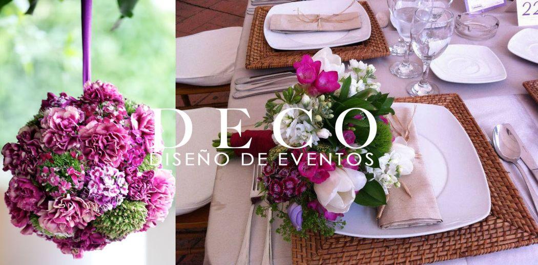 Pompander y bouquet a juego por DECO diseño de eventos