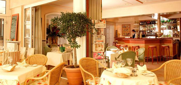 Beispiel: Das Restaurant des Hotels, Foto: Parkvilla Wörth.