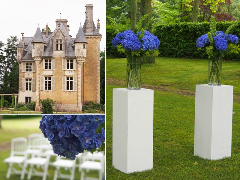 Idée décoration cérémonie laïque en extérieur - Mariage au Château de St Julien l'Ars près de Poitiers