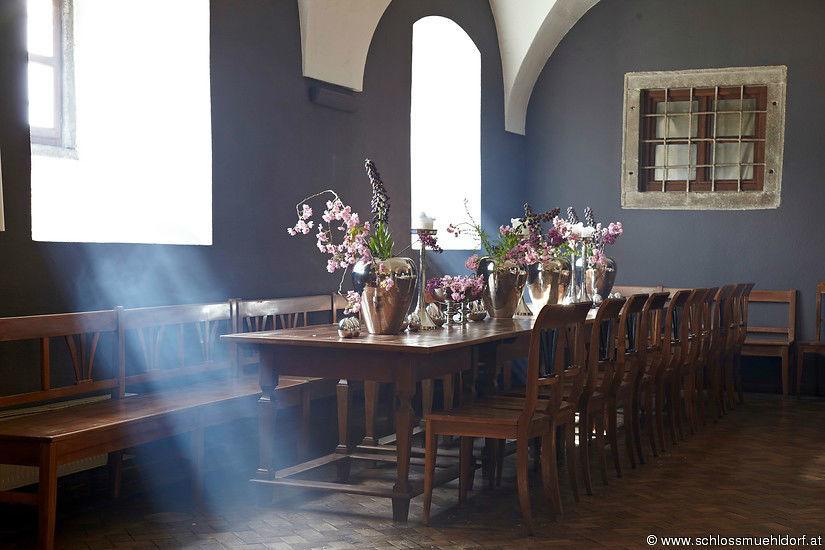 Beispiel: Restaurant, Foto: Schloss Mühldorf.