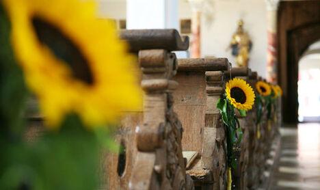 Beispiel: Kirchenschmuck, Foto: Blumenkiste.