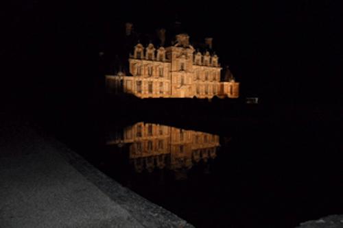 Eclairage du Château de Beaumesnil les soirs de réceptions
