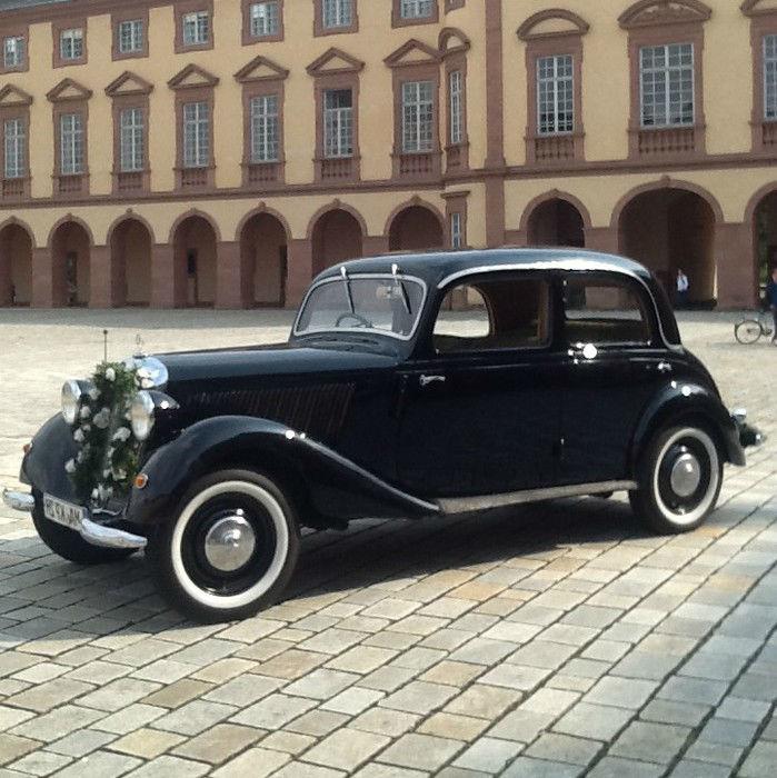 Beispiel: Hochzeitsauto, Foto: Bel Ami Oldtimergarage.