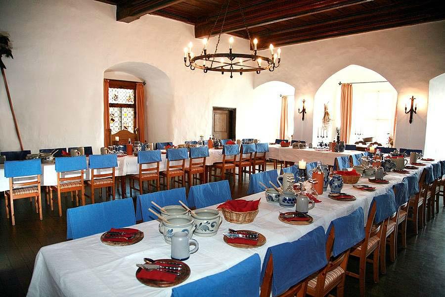 Beispiel: Hochzeitstafel, Foto: Burg Gnandstein.