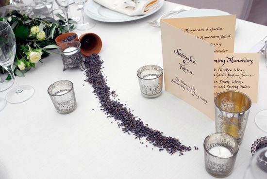 Beispiel: Ausgefallene Idee - handgeschriebene Menükarte, Foto: Event Calligraphy.