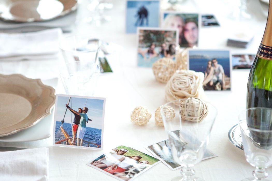 Cheerz - Décorer les tables avec des photos individuelles ou des photos de vous !