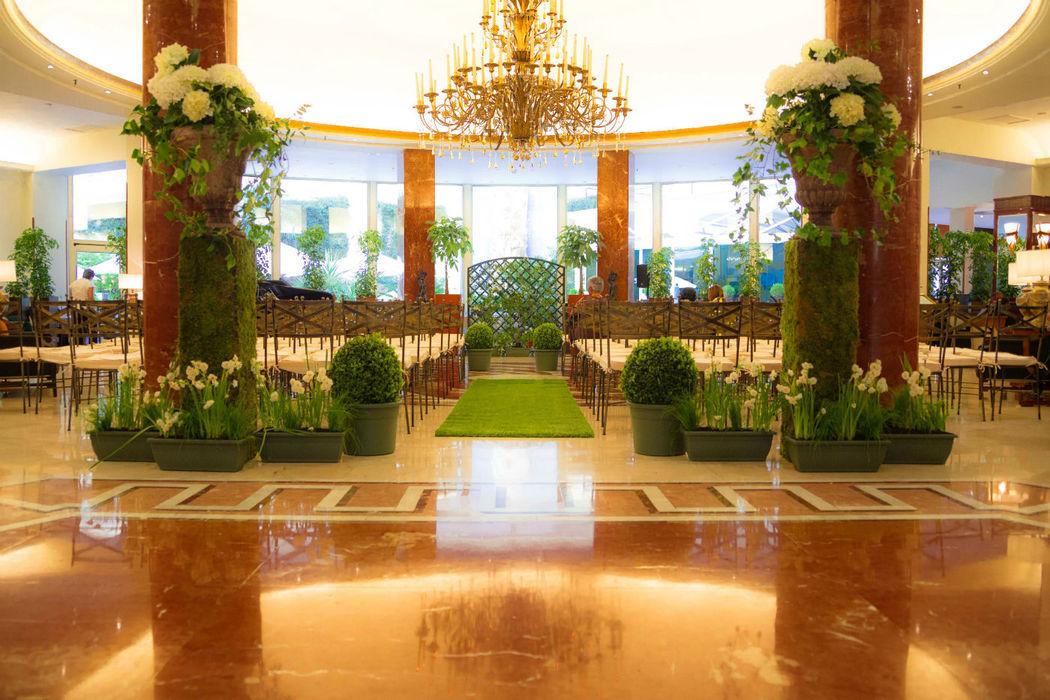 Ceremonia civil en el lobby
