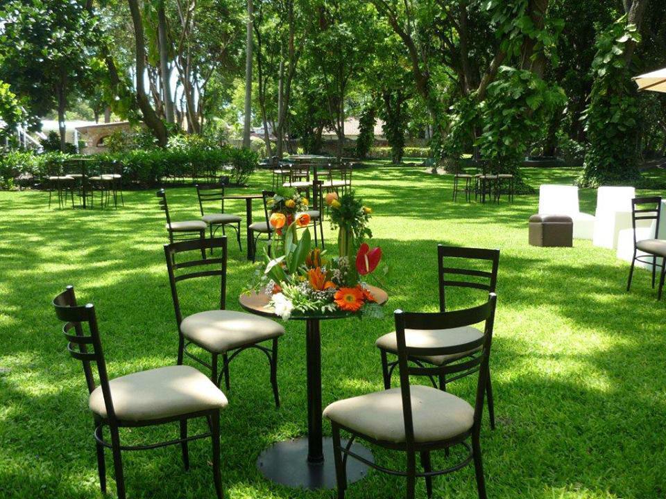 Jardines. Hacienda Vista Hermosa. San José Vista Hermosa,Puente de Ixtla, Morelos.