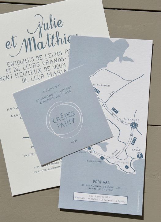 Faire-part letterpress http://www.papierchic.com/