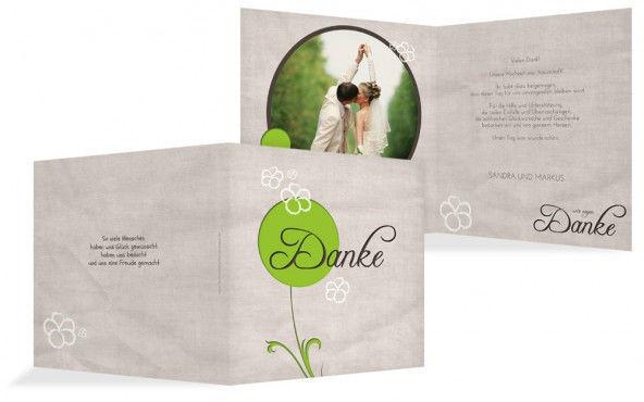 Beispiel: Danksagungskarten, Foto: Hochzeitskarten- Paradies.