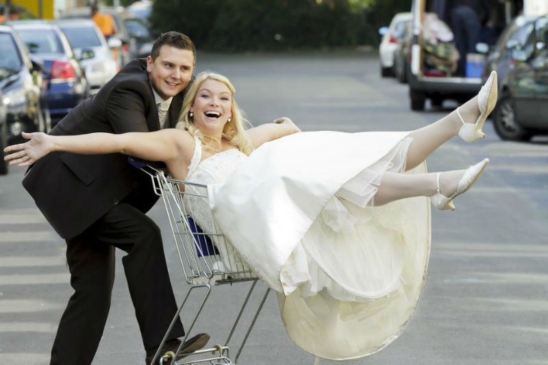 Beispiel: After Wedding Shooting, Foto: Alexander Vejnovic.