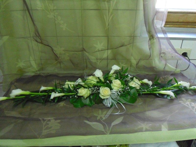 Beispiel: Tischgesteck, Foto: Blumen Katja Lang.